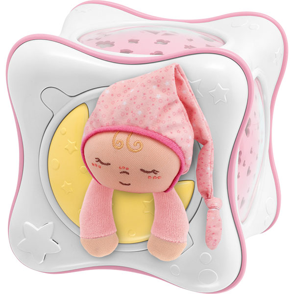 Veilleuse bébé cube arc en ciel rose first dreams Chicco