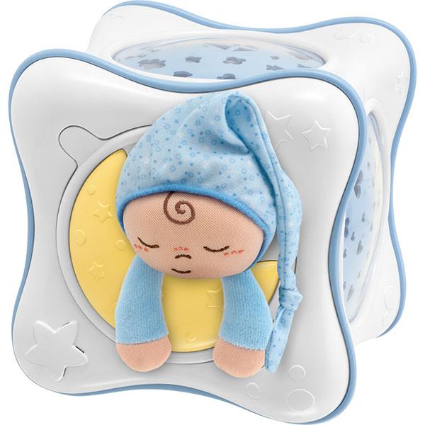 Veilleuse bébé cube arc en ciel bleu first dreams Chicco