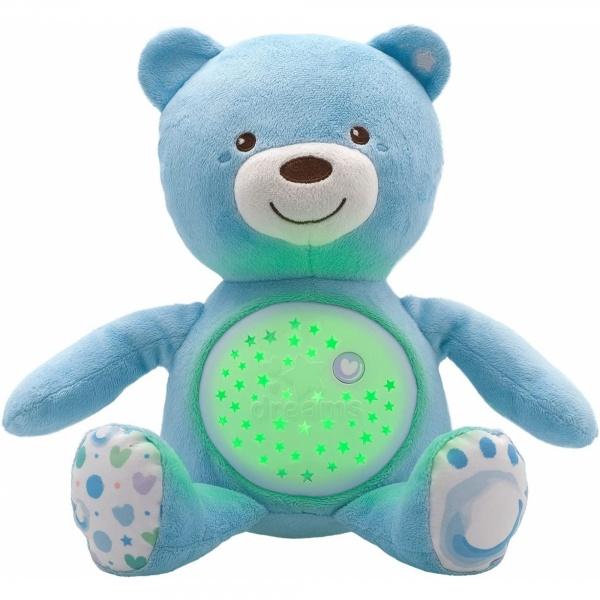 Veilleuse peluche ourson projecteur first dream bleue Chicco