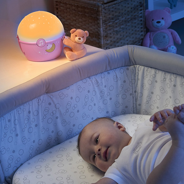 Veilleuse projecteur next2 stars first dream rose Chicco
