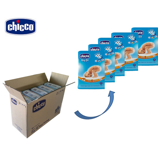 Carton de 170 couches t5 dry fit 12/25 kg Chicco