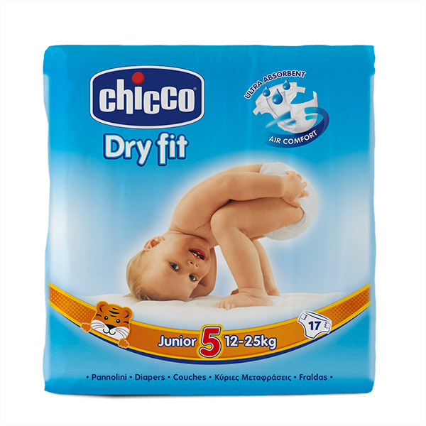 Carton de 170 couches t5 dry fit 12/25 kg Chicco