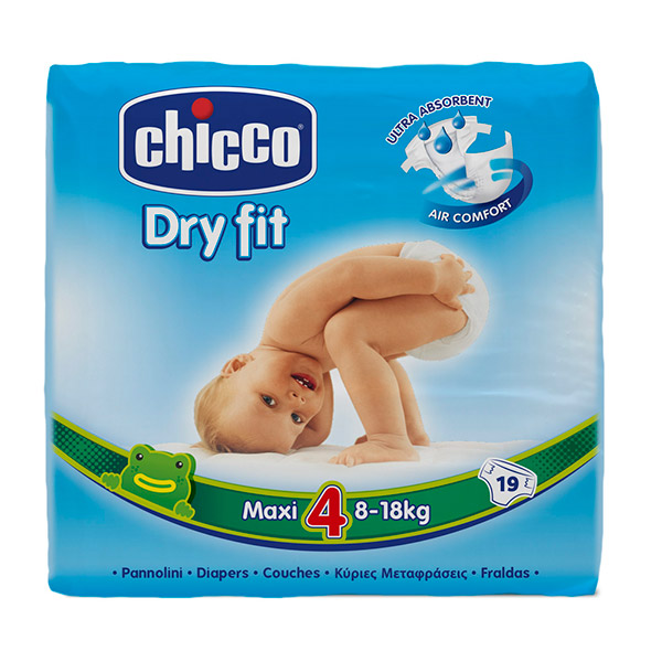 Carton de 190 couches t4 dry fit 8/18 kg Chicco