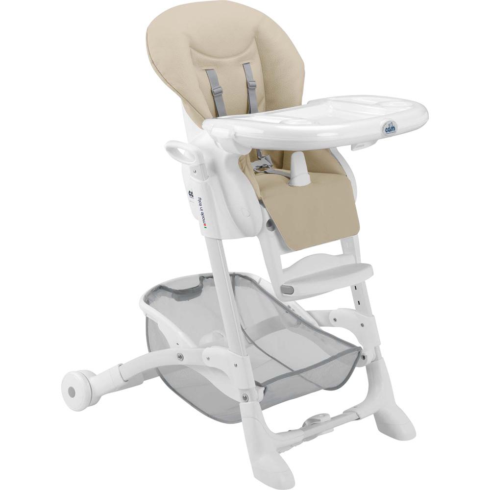 Chaise haute b b instante soft beige de cam en vente chez cdm for Chaise haute ou rhausseur