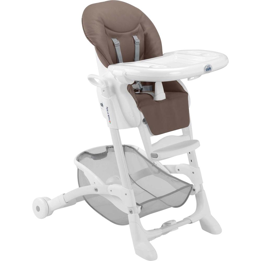 chaise haute b b istante soft marron de cam sur allob b. Black Bedroom Furniture Sets. Home Design Ideas