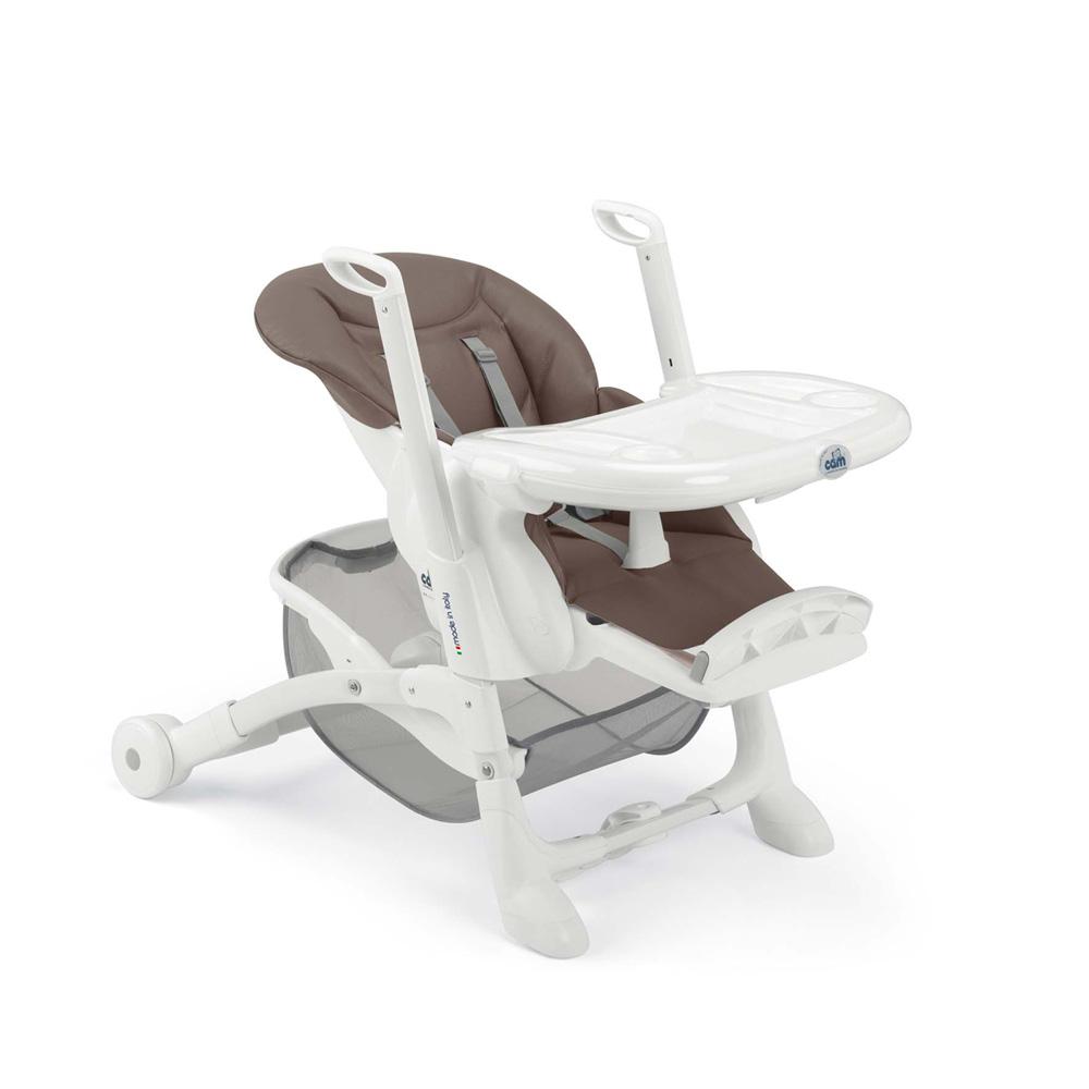 Chaise haute b b istante soft marron de cam sur allob b for Chaise auto enfant