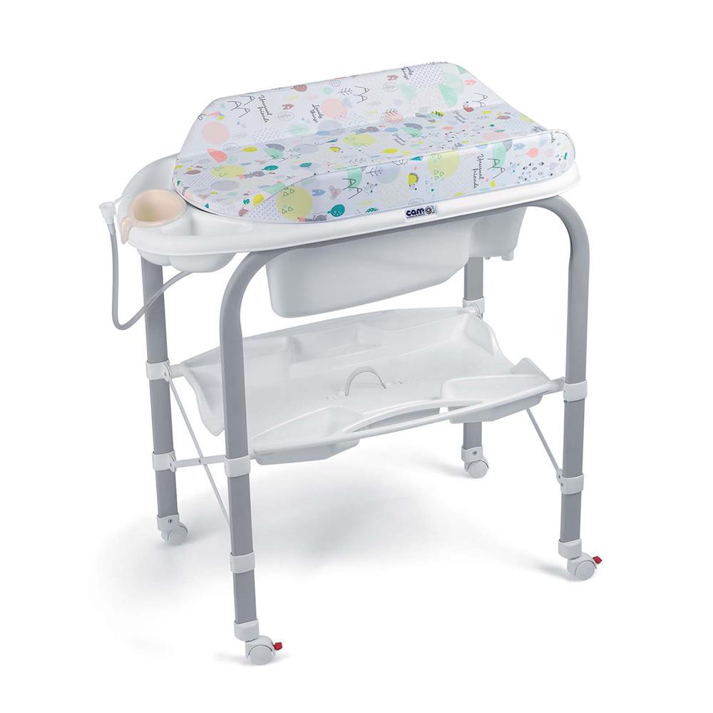 Table langer avec baignoire cambio nordic de cam sur - Table a langer en bois avec baignoire ...