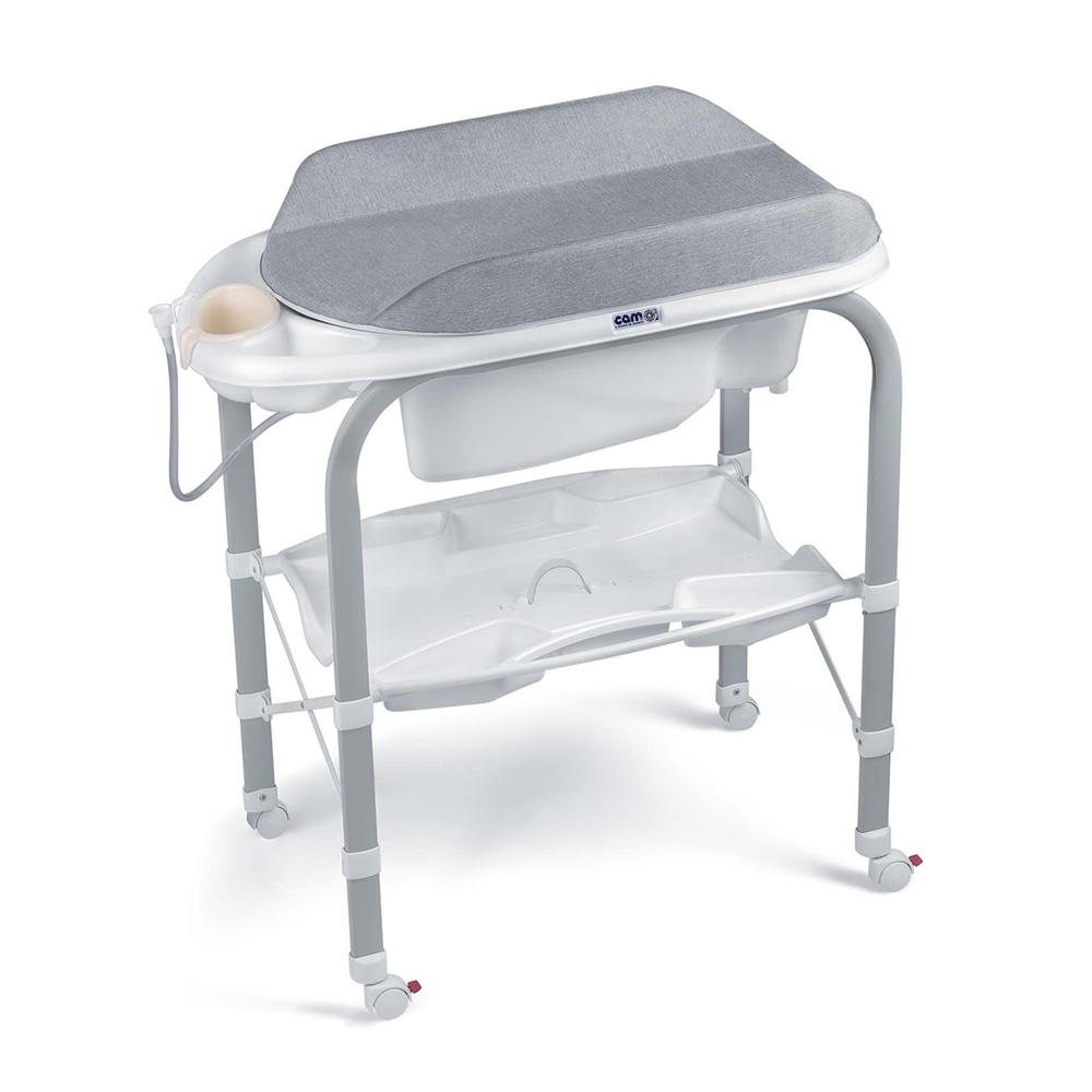 Table langer avec baignoire cambio gris de cam sur allob b - Table a langer en bois avec baignoire ...