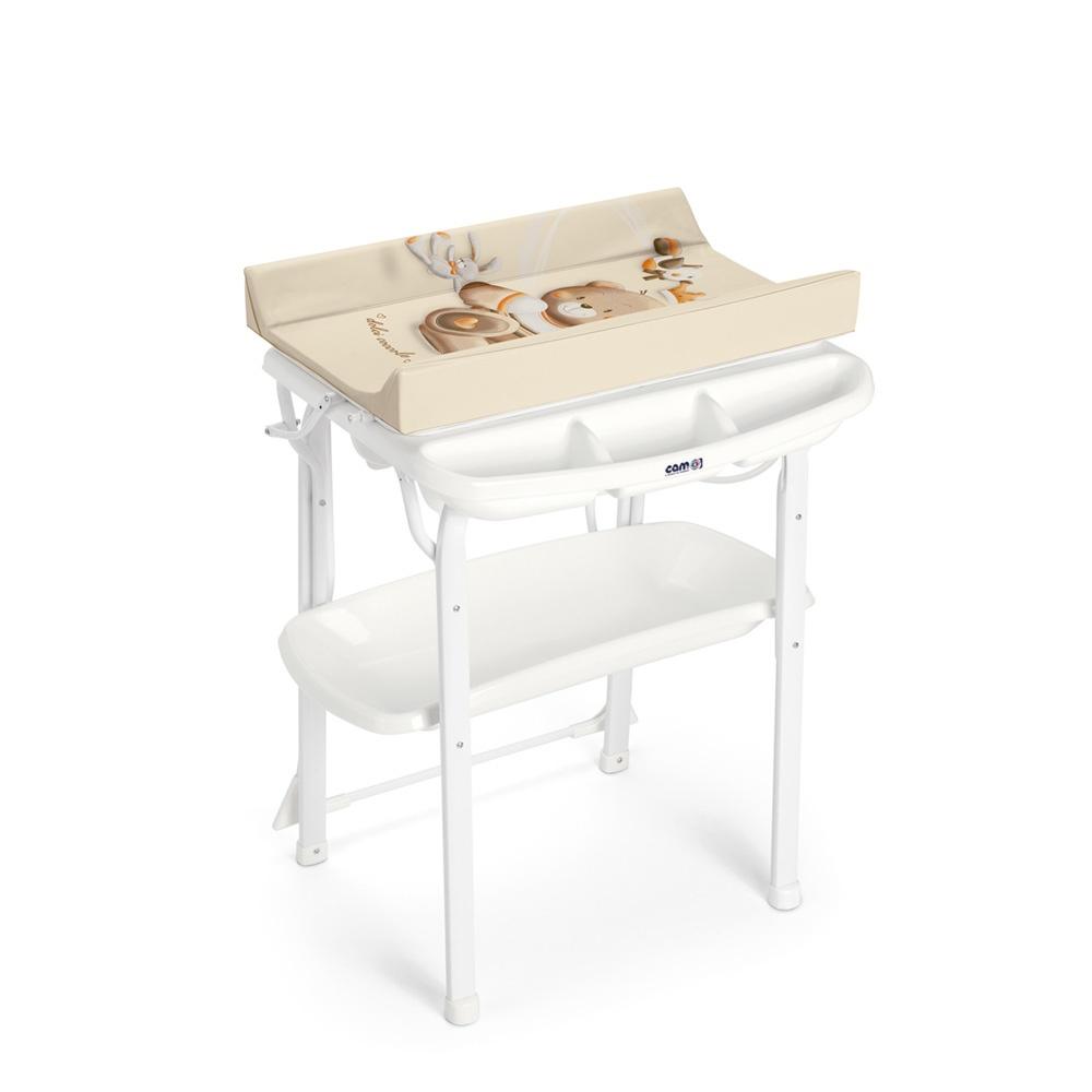 Table langer avec baignoire aqua spa ourson de cam sur - Table a langer en bois avec baignoire ...