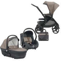 Pack poussette trio dinamico up smart marron/gris
