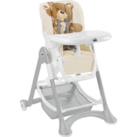 Chaise haute bébé campione ourson beige