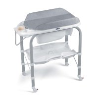 Table à langer avec baignoire cambio gris