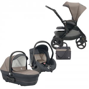 Poussette combiné trio dinamico up smart marron/gris