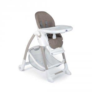 Chaise haute bébé gusto taupe