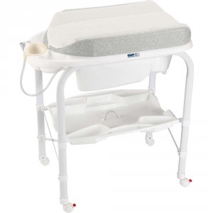 Table à langer avec la baignoire cambio soft lapin
