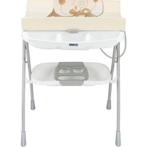 Table à langer avec la baignoire volare ourson beige