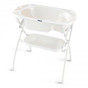 Baignoire bébé avec support bagno blanc