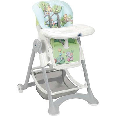 Chaise haute bébé campione animaux de la forêt Cam