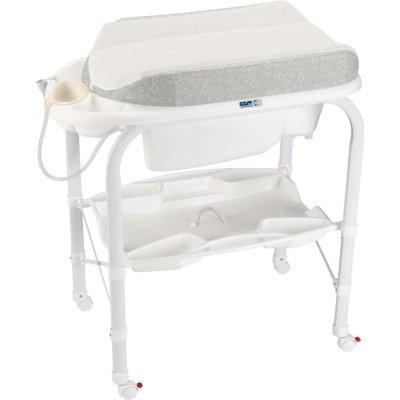 Table à langer avec la baignoire cambio soft lapin Cam