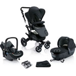 Poussette trio neo travel set phantom black pas cher