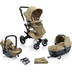Poussette trio neo travel set honey beige pas cher