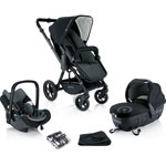 Poussette trio wanderer travel set phantom black pas cher