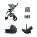 Pack poussette trio neo travel set stone grey pas cher