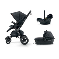 Poussette combiné trio neo travel set midnight black