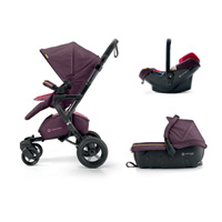 Poussette combiné trio neo travel set rose pink