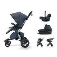 Pack poussette trio neo travel set deep water blue