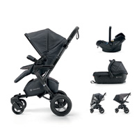 Poussette combiné trio neo travel set cosmic black
