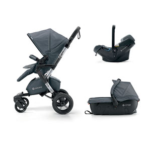 Poussette combiné trio neo travel set graphite grey