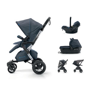 Poussette combiné trio neo travel set deep water blue
