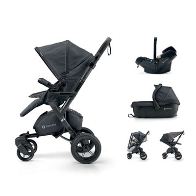 Pack poussette trio neo travel set cosmic black Concord