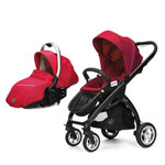 Pack poussette duo 4 roues kudu + coque sono raspberry pas cher