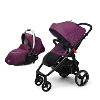 Pack poussette duo 4 roues loop + coque sono plum
