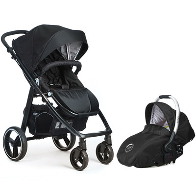 Pack poussette duo 4 roues loop + coque sono chakra Casualplay