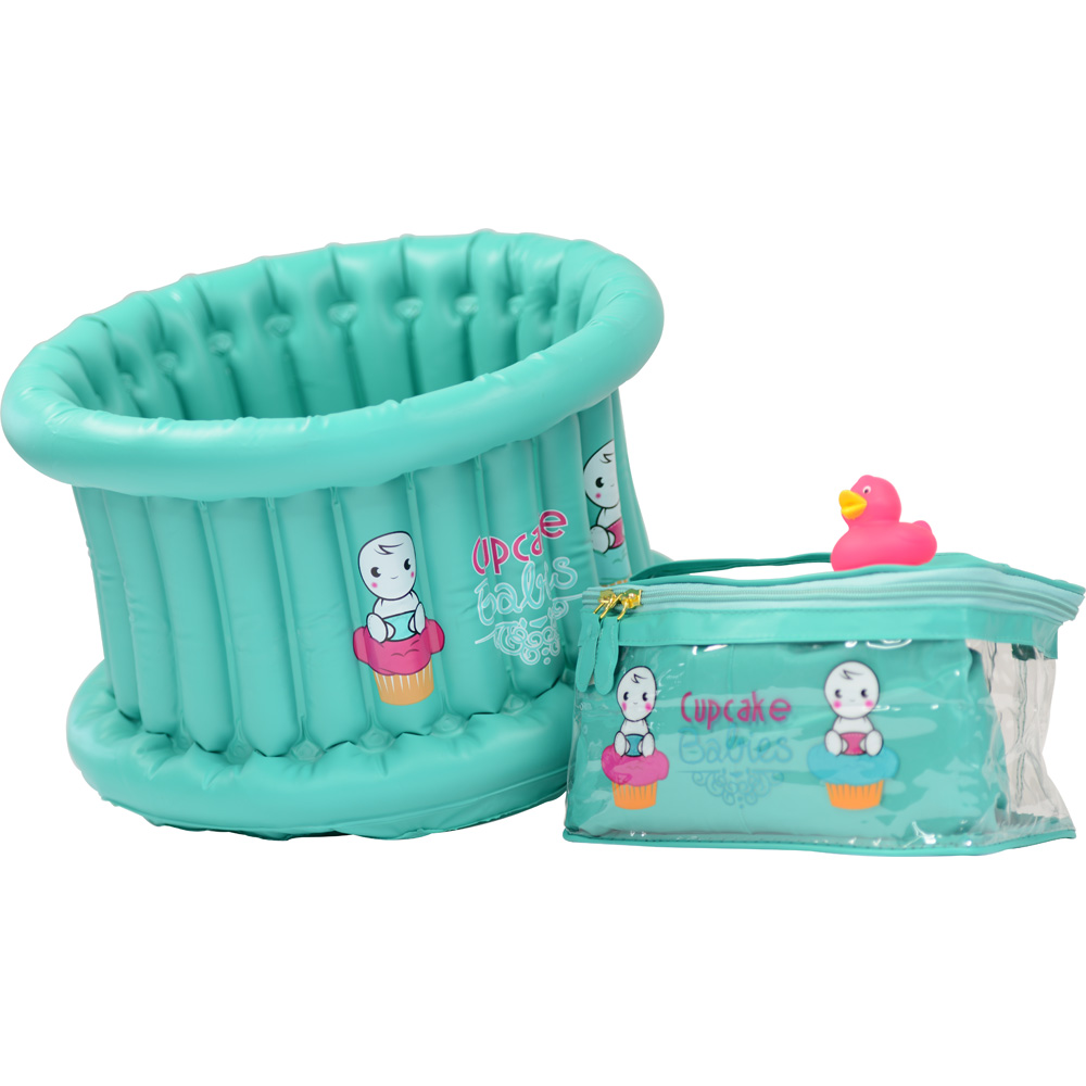 baignoire b b gonflable cupcake baby turquoise de cupcake. Black Bedroom Furniture Sets. Home Design Ideas