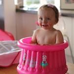 Baignoire bébé gonflable cupcake baby fushia