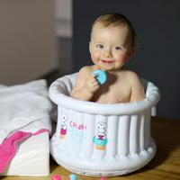 Baignoire bébé gonflable cupcake baby blanc