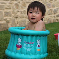 Baignoire bébé gonflable cupcake baby turquoise