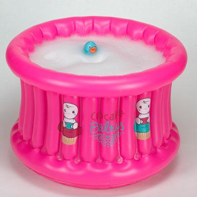 Baignoire bébé gonflable cupcake baby fushia Cupcake babies
