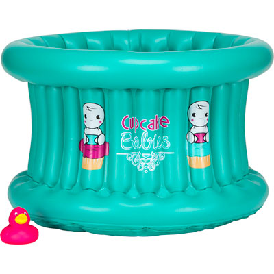 Baignoire bébé gonflable cupcake baby turquoise Cupcake babies