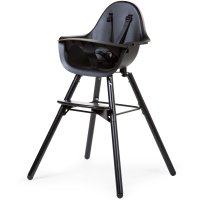 Chaise haute bébé evolu 2 noir/noir