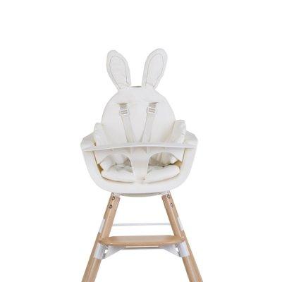 Coussin de chaise haute rabbit blanc Childhome