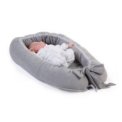 Réducteur de lit cocoon jersey gris Childhome