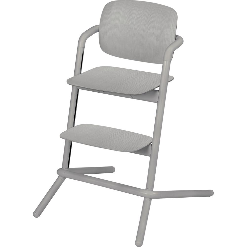 chaise haute b b volutive lemo bois storm grey de cybex. Black Bedroom Furniture Sets. Home Design Ideas