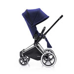 Poussette 4 roues priam chrome luxe trekking navy blue