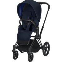 Poussette 4 roues priam matt black indigo blue
