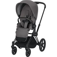 Poussette 4 roues priam matt black manhattan grey